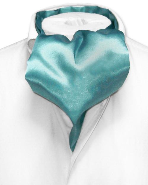 Aqua Cravat | Mens Biagio Aqua Blue Cravat Ascot Necktie