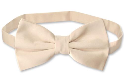 Vesuvio Napoli BowTie Solid Light Brown Color Mens Bow Tie