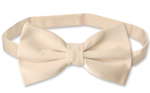 Vesuvio Napoli BowTie Solid Light Brown Color Mens Bow Tie