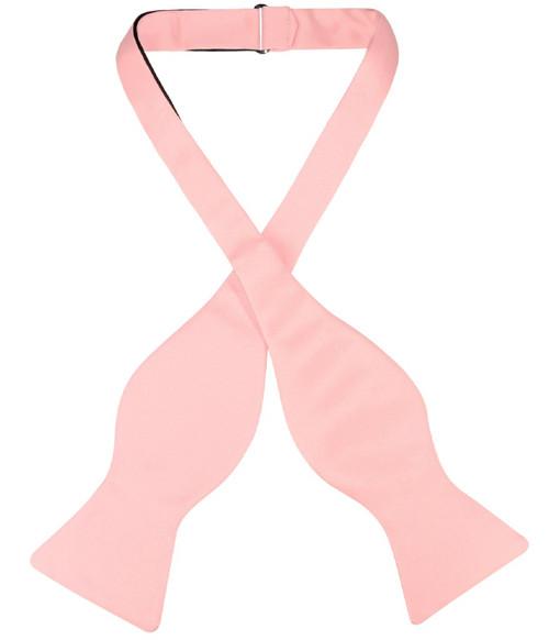 Vesuvio Napoli Self Tie Bow Tie Solid Dusty Pink Color Mens BowTie