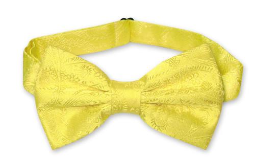 Vesuvio Napoli BowTie Yellow Paisley Color Mens Bow Tie
