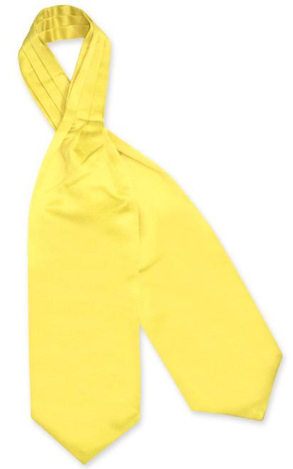 Yellow Cravat Tie   Vesuvio Napoli Mens Solid Color Ascot Cravat Tie