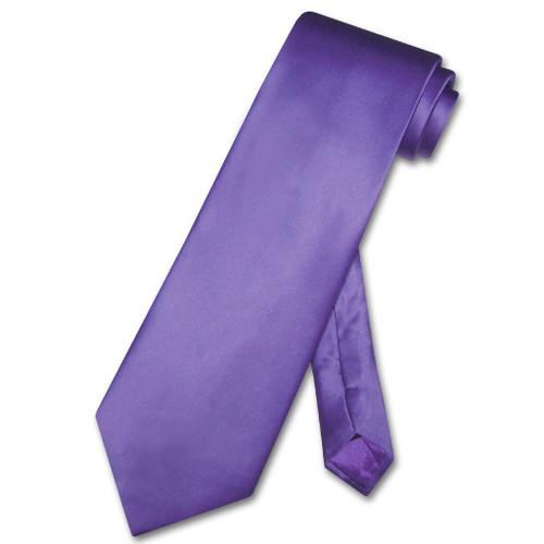 Mens Purple Tie | Mens Biagio Silk Solid Purple Necktie