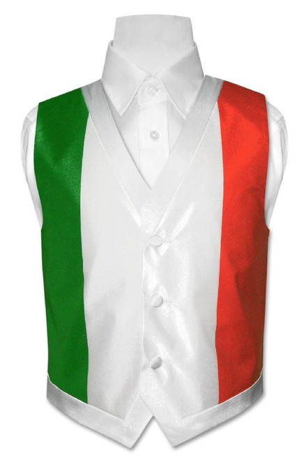 Italian Flag Vest | Boys Italian Flag Vest Size 8