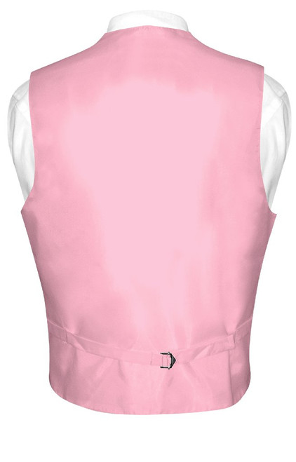 Mens Paisley Design Dress Vest & Bow Tie Pink Color BowTie Set