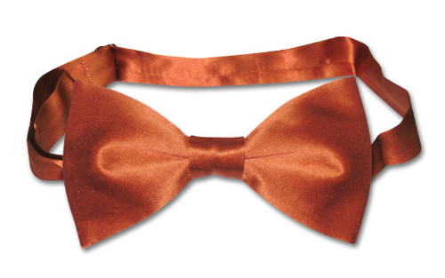 Solid Burnt Orange Color Mens Bowtie | Biagio Silk Pre Tied Bow Tie