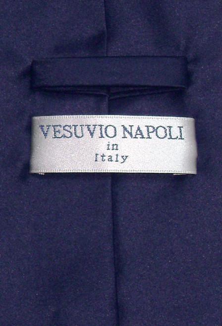 Vesuvio Napoli Solid Navy Blue NeckTie Handkerchief Mens Neck Tie Set