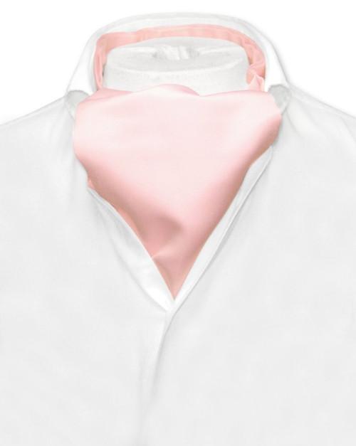 Pink Cravat Tie | Vesuvio Napoli Mens Solid Color Ascot Cravat Tie