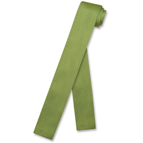 Antonnio Ricci Ties | Mens Knitted Apple Green Necktie
