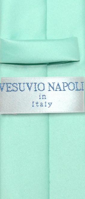 Aqua Tie Narrow   Skinny Thin Aqua Green Tie For Men