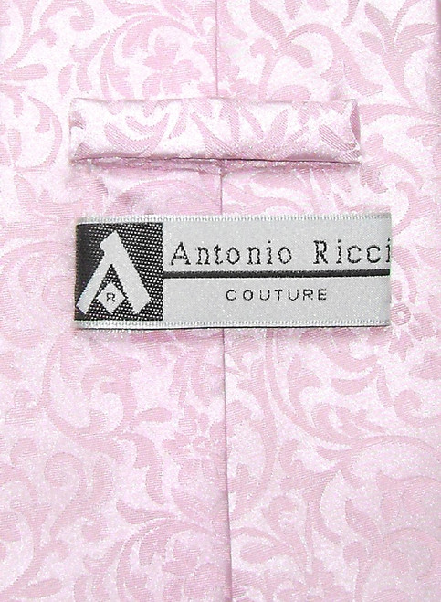 Antonio Ricci Mens Paisley Dress Vest NeckTie Pink Neck Tie Set sz 3XL
