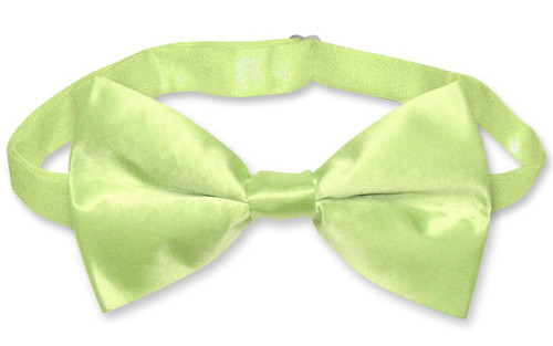 Solid Lime Green Bow Tie | Mens Biagio Lime Green Silk Bowtie