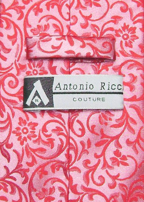Antonio Ricci Mens Paisley Dress Vest NeckTie Red Neck Tie Set sz 3XL