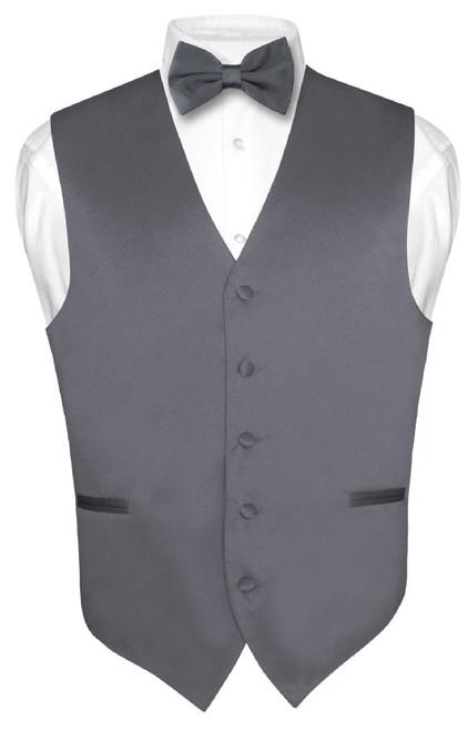 Grey Vest And Grey BowTie Set | Gray Vest And Bow Tie Set