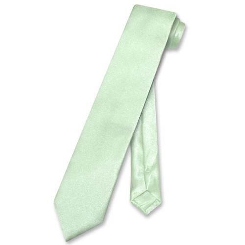Biagio Boys NeckTie Solid Lime Green Color Youth Neck Tie
