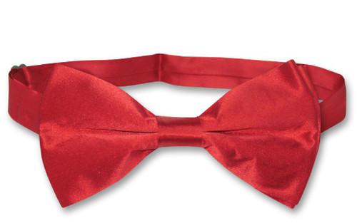 Rose Red Mens Bowtie | Biagio Silk Pre Tied Solid Color Bow Tie