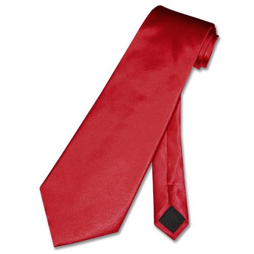 Covona NeckTie Solid Cranberry Dark Red Color Mens Neck Tie