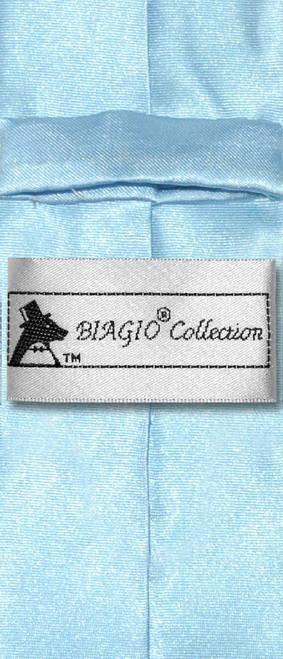 Biagio Boys NeckTie Solid Baby Blue Color Youth Neck Tie