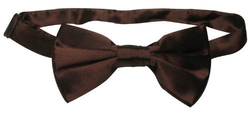 Solid Chocolate Brown Color Mens BowTie | Silk Pre Tied Bow Ties