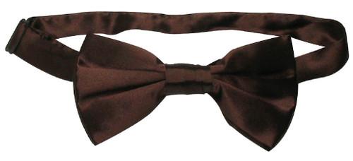 Solid Chocolate Brown Color Mens BowTie | Silk Pre Tied Bow Ties