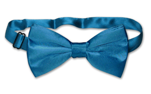 Solid Blue Color Mens BowTie | Mens 100% Silk Pre Tied Bow Ties