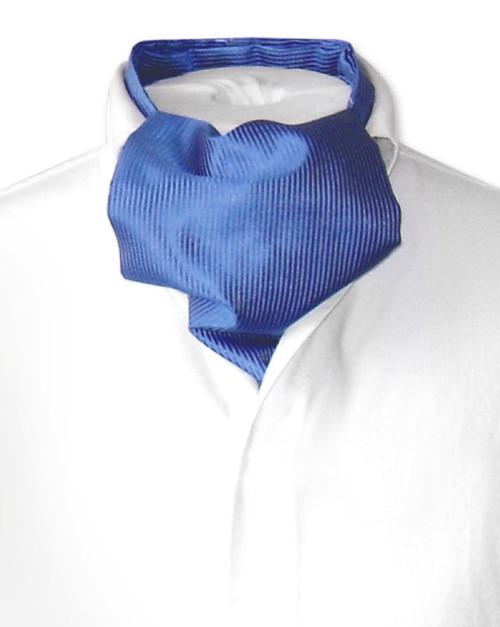 Ascot Cravat Pattern   Mens Royal Blue Ascot Cravat