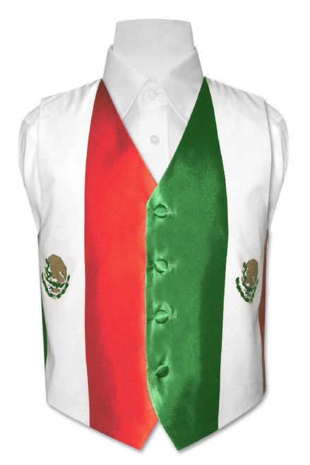 Mexican Flag Vest | Boys Mexican Flag Vest Size 6
