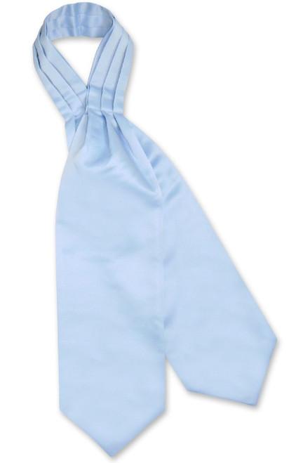 Baby Blue Cravat Tie   Vesuvio Napoli Mens Solid Color Ascot Cravat