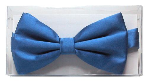 Solid Royal Blue Colored Mens BowTie   100% Silk Pre Tied Bow Tie