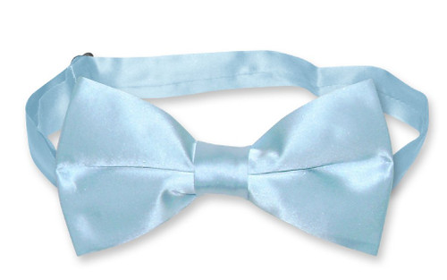 Baby Blue Mens Bowtie | Biagio Silk Pre Tied Solid Color Bow Tie