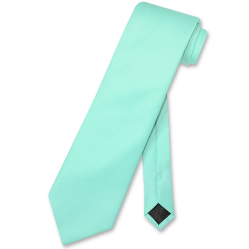 Aqua Green Mens NeckTie | Vesuvio Napoli Solid Color Mens Neck Tie