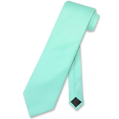 Aqua Green Mens NeckTie | Vesuvio Napoli Solid Color Mens Neck Tie