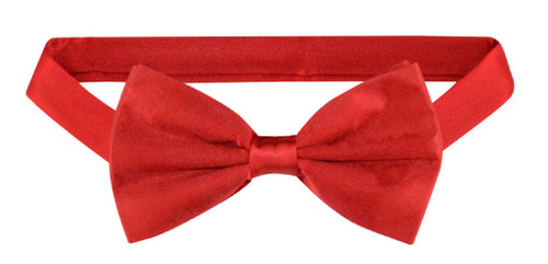 Solid Red Colored Mens BowTie | Mens 100% Silk Pre Tied Bow Ties