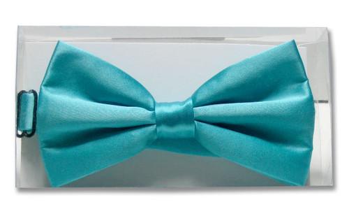 Turquoise Aqua Blue Color Mens BowTie | Mens Silk Pre Tied Bow Tie
