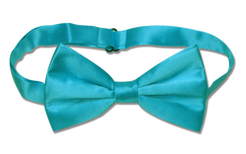 Turquoise Aqua Blue Color Mens BowTie | Mens Silk Pre Tied Bow Tie