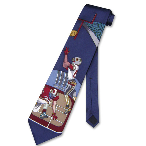 Papillon 100% Silk NeckTie Football Design Mens Neck Tie #124-4