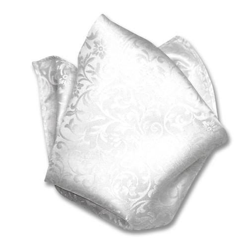 Antonio Ricci Mens White Paisley Dress Vest Bow Tie Set Size 3XL