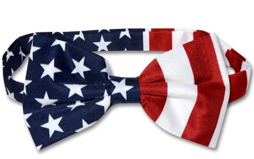 American Flag Bow Tie | Pre Tied Patriotic Bow Tie For Men