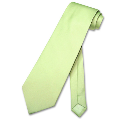 Lime Green Tie | Mens Covona Solid Lime Green Color Necktie