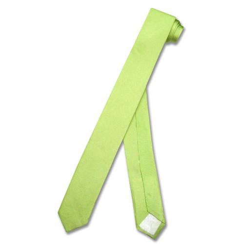Lime Green Extra Skinny Neck Tie | Mens Extra Skinny Silk NeckTies