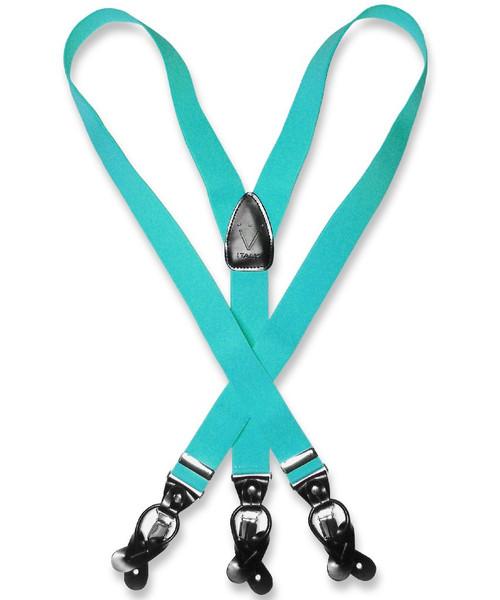 Turquoise Suspenders | Mens Turquoise Blue Suspenders