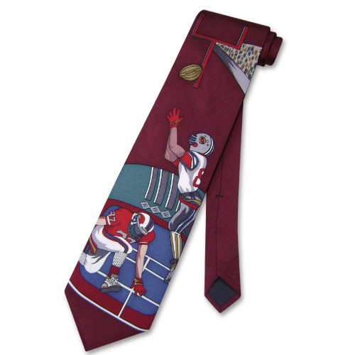 Papillon 100% Silk NeckTie Football Design Mens Neck Tie #124-2
