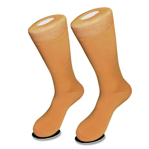 Solid Gold Color Mens Socks   1 Pair of Biagio Cotton Dress Socks