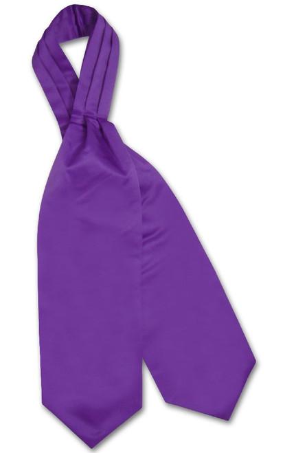 Purple Indigo Cravat Tie | Vesuvio Napoli Mens Solid Color Ascot Tie