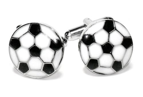 Soccer Ball Cufflinks | Mens Silver Tone Soccer Ball Cufflinks