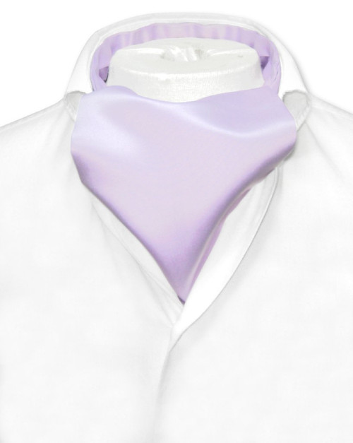 Lavender Purple Cravat Tie   Vesuvio Napoli Mens Solid Color Ascot