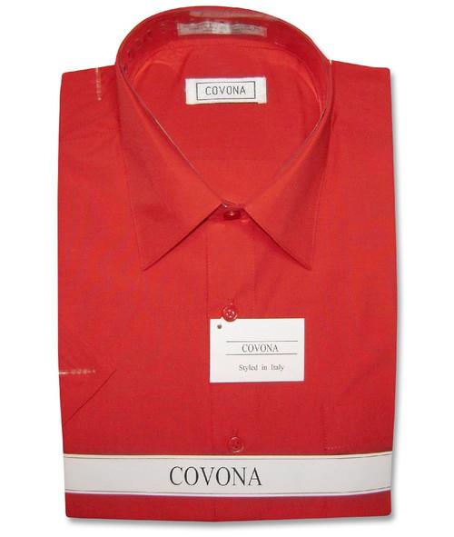 Red Short Sleeve Dress Shirt | Mens Red Short Sleve Dress Shirt