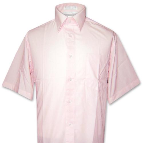 Pink Short Sleeve Dress Shirt | Mens Covona Pink Dress Shirt