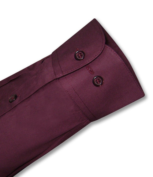 Burgundy Dress Shirt | Mens Cotton Burgundy Dress Shirt