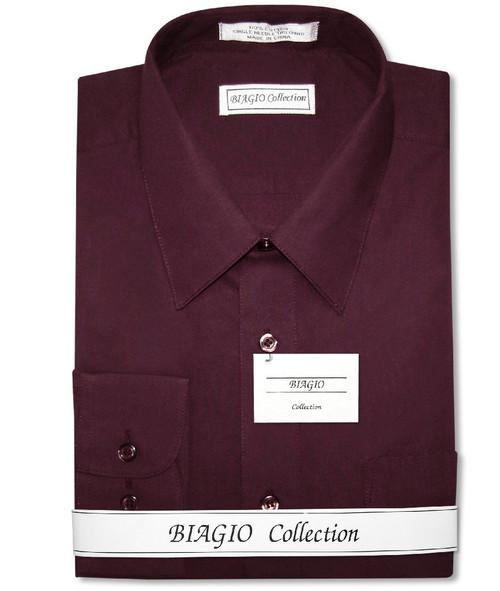 Burgundy Dress Shirt   Mens Cotton Burgundy Dress Shirt